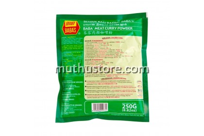 BABAS CHICKEN AND MUTTON MEAT CURRY POWDER 250g